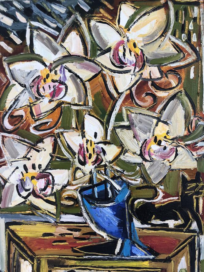 7. Orchids Still Life
