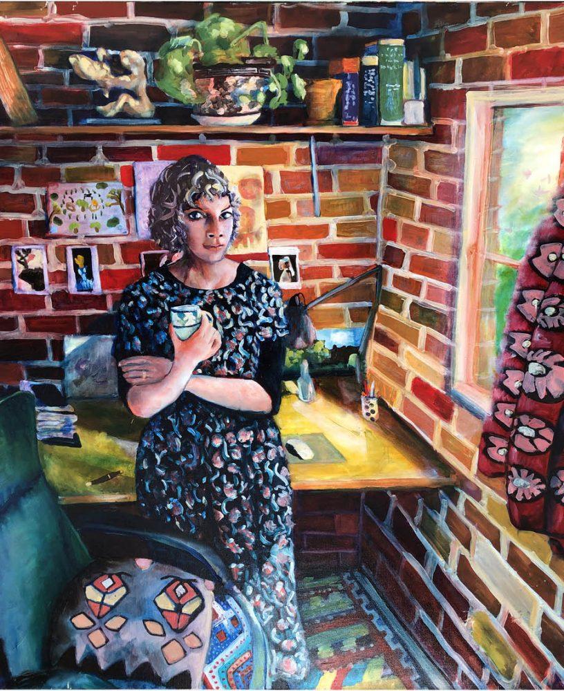 Peggy in her Studio