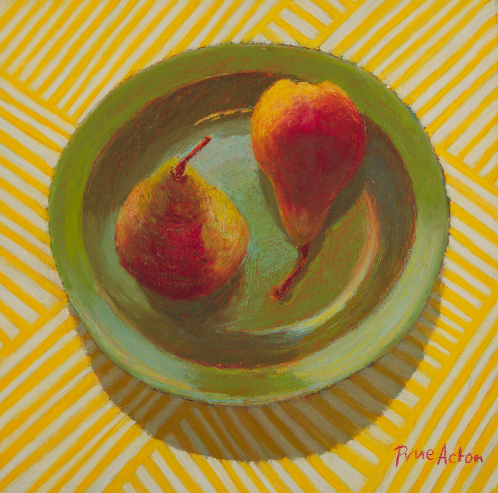 14. Pears, Green Plate