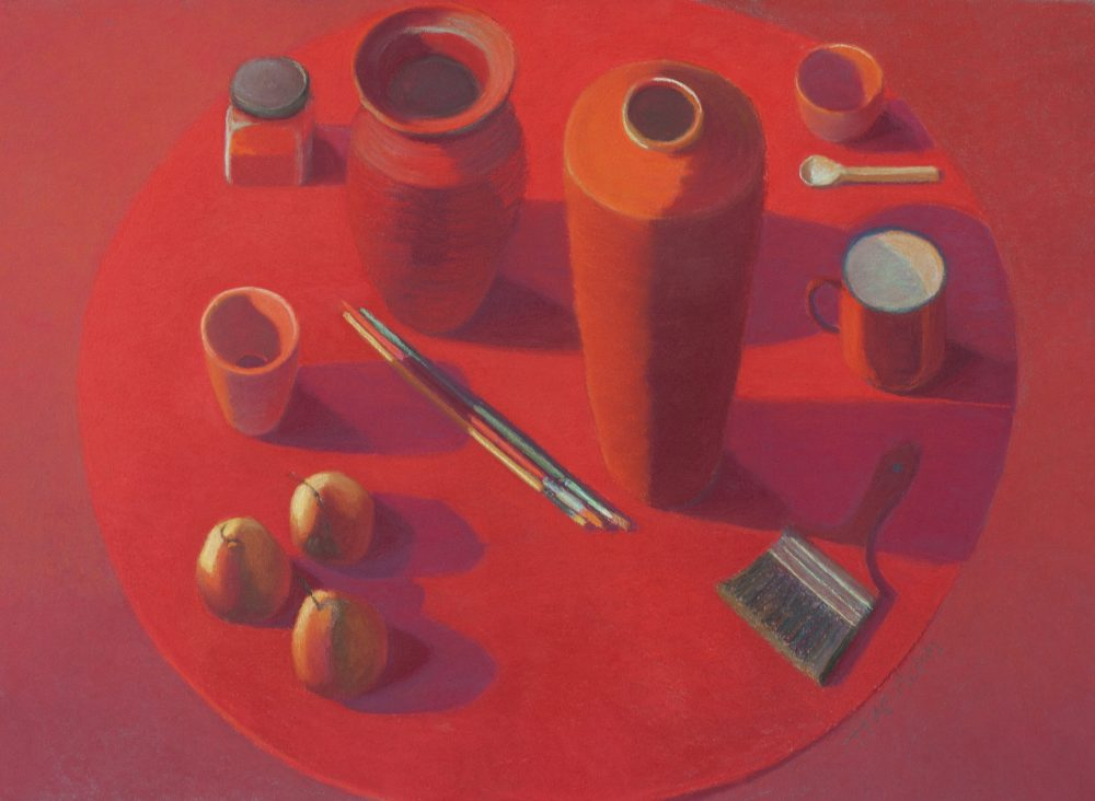 17. Red Table Objects