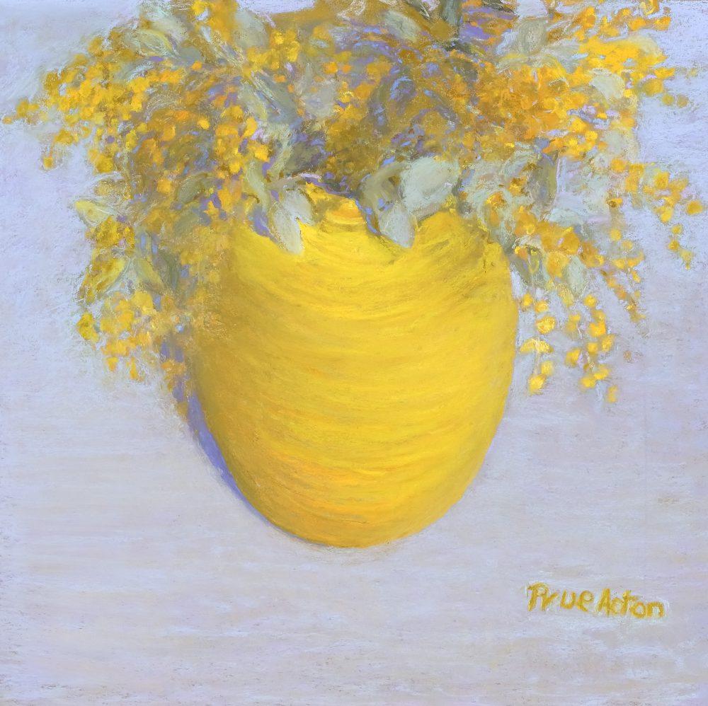 2. Wattle ii, Large Yellow Vase