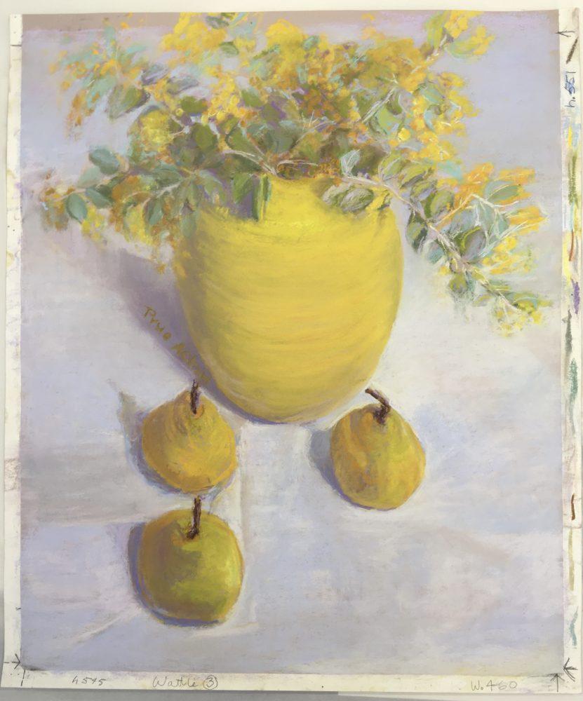 7. Wattle iii, Vase, Pears