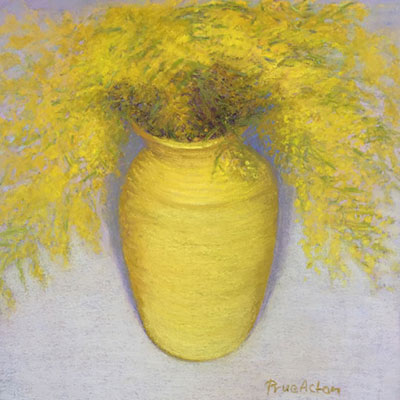 12. Wattle iv, Yellow Vase